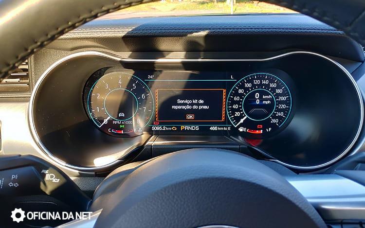Ford Mustang GT Premium - Painel de instrumentos (modo normal)
