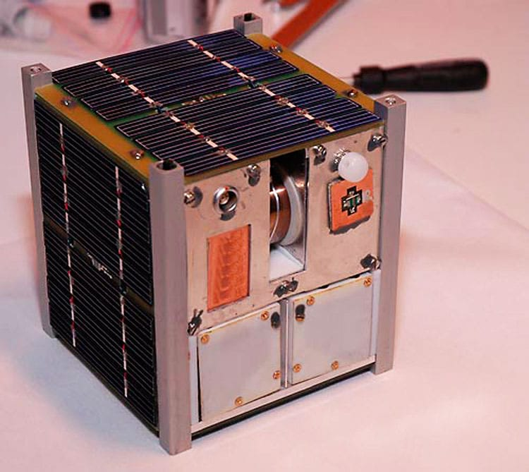 Um dos satélites da