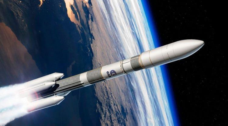 Concepção artística do Ariane 6 que voará somente em