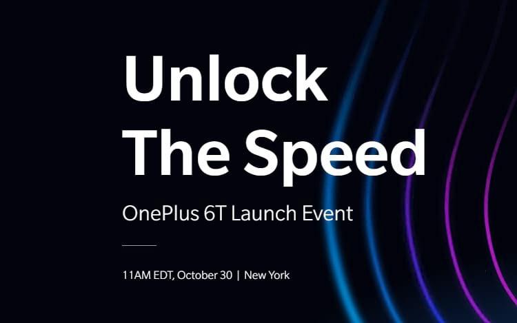 OnePlus 6T será revelado no dia 30 de outubro