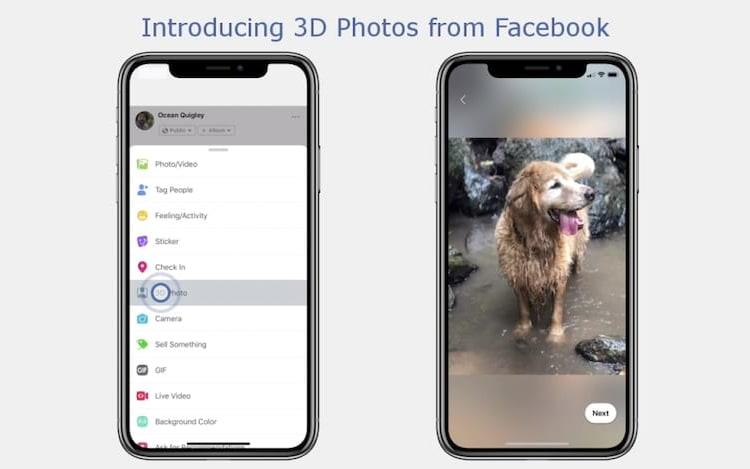 Facebook passa a permitir postagem de fotos 3D.