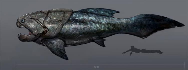 """Dunkleosteus, o maior """"peixe blindado"""" que já existiu foi extinto neste evento"""