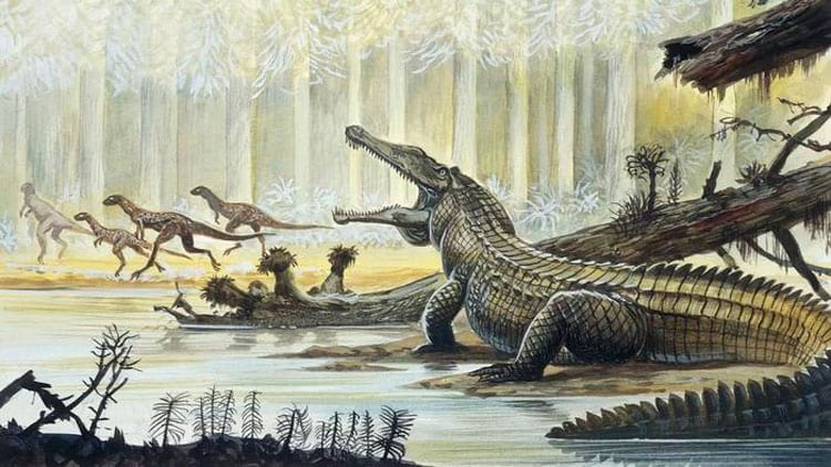 No triássico surgiram os primeiros dinossauros, mas eles eram mais presa do que predadores