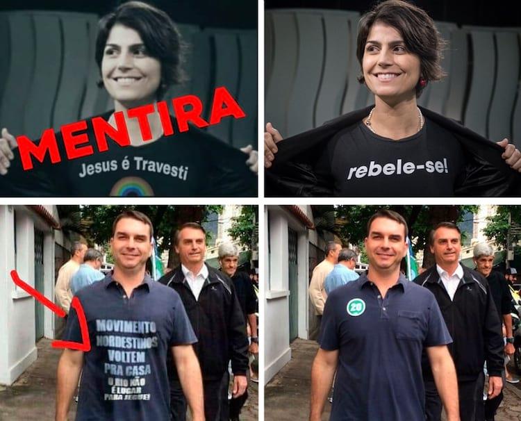 Exemplos de imagens fake news nas Eleições 2018.