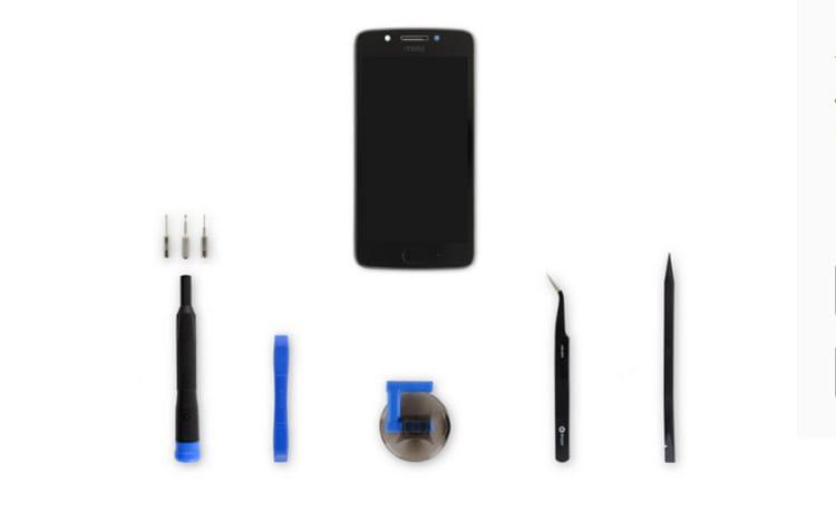 Exemplo de kit de reparo disponível
