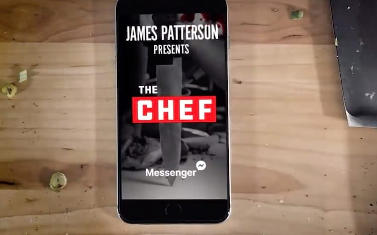 Facebook Messenger irá exibir próximo romance de James Patterson.
