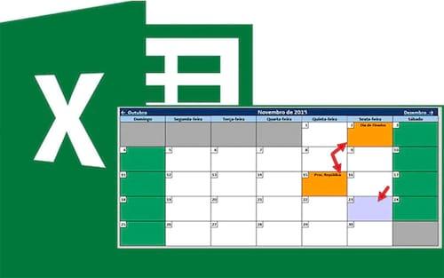 Calendário 2019 no Excel