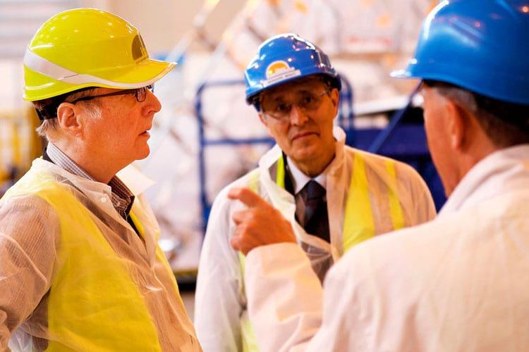 Paul Allen visitando a construção do ITER