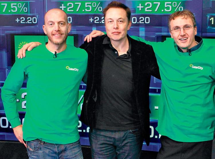 Peter Rive, Elon Musk e Lyndon Rive