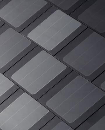 Detalhe de SolarRoofs instaladas
