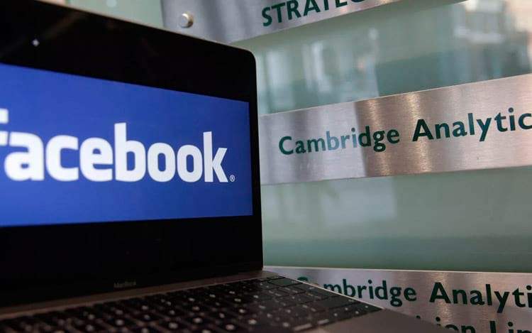 Facebook irá recorrer da multa que envolve a Cambridge Analytica.