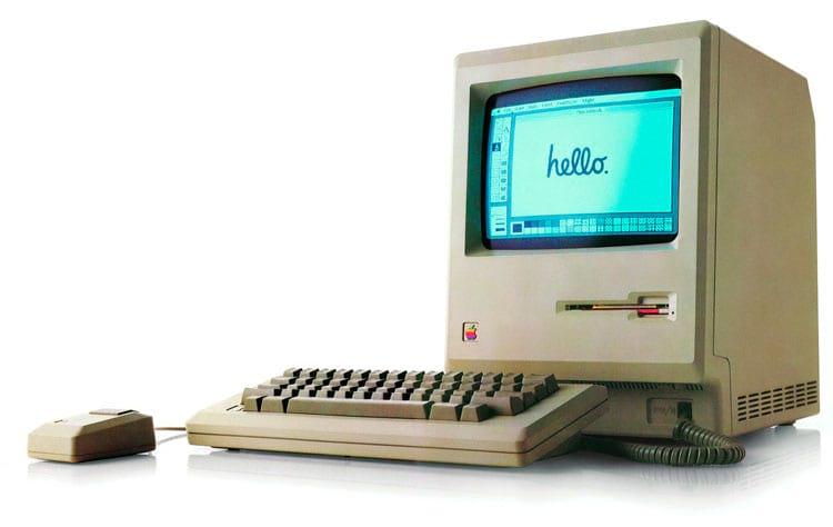O famoso Macintosh original, de 1984