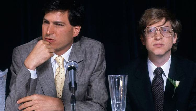 Jobs e Gates em 1984