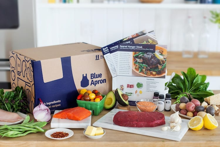 Blue Apron é uma das caixas de assinatura mais famosas do mercado