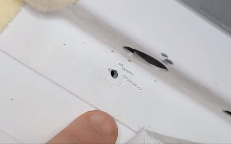 Buraco encontrado na nave Soyuz.