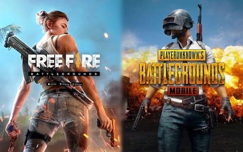 Comparativo Free Fire vs PUBG: Qual deles é melhor?