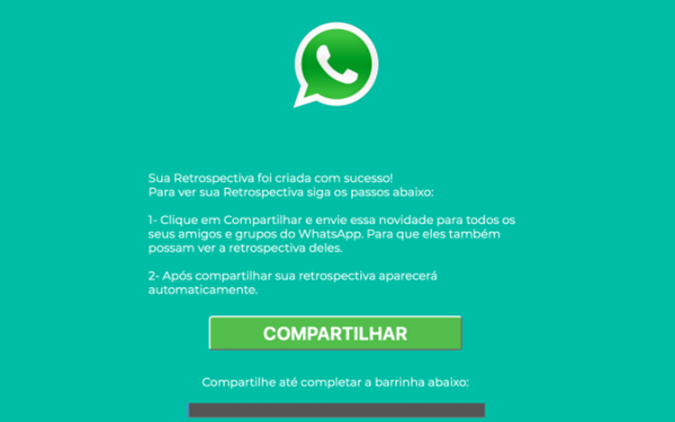 Como não cair no golpe da falsa Retrospectiva 2018 do WhatsApp?