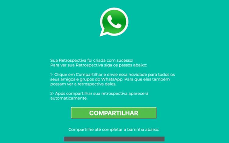 Como não cair no golpe da falsa Retrospectiva 2018 do WhatsApp?