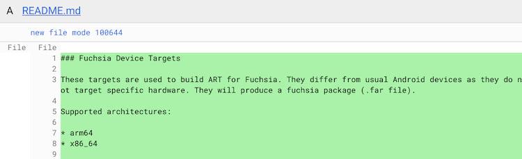 Conforme código do Google, o Fuchsia OS deve rodar também no Android.