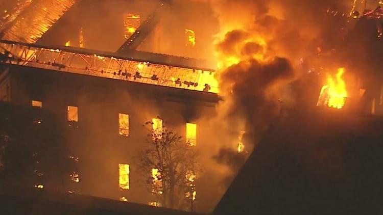 Incêndio no Museu Nacional do Rio de Janeiro.