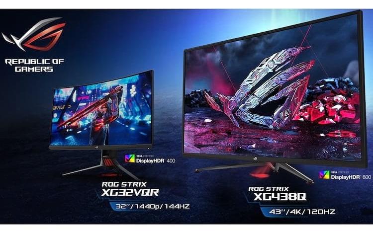 Asus anuncia três novos monitores de jogo HDR.