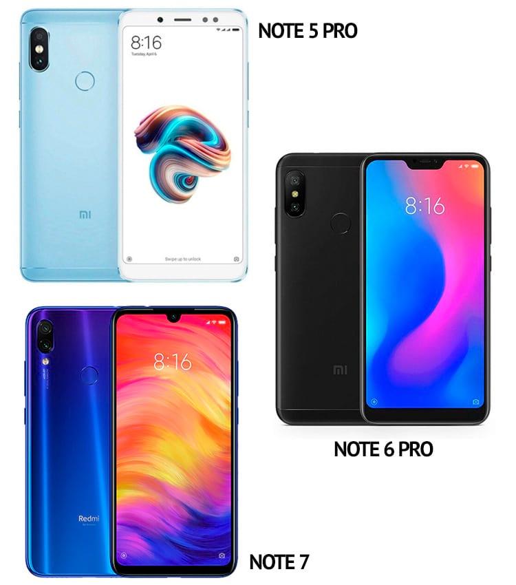 Comparativo Redmi Note 5 Pro vs Redmi Note 6 Pro vs Redmi Note 7