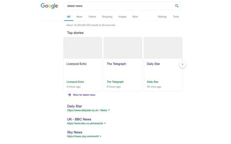 Demonstração Google