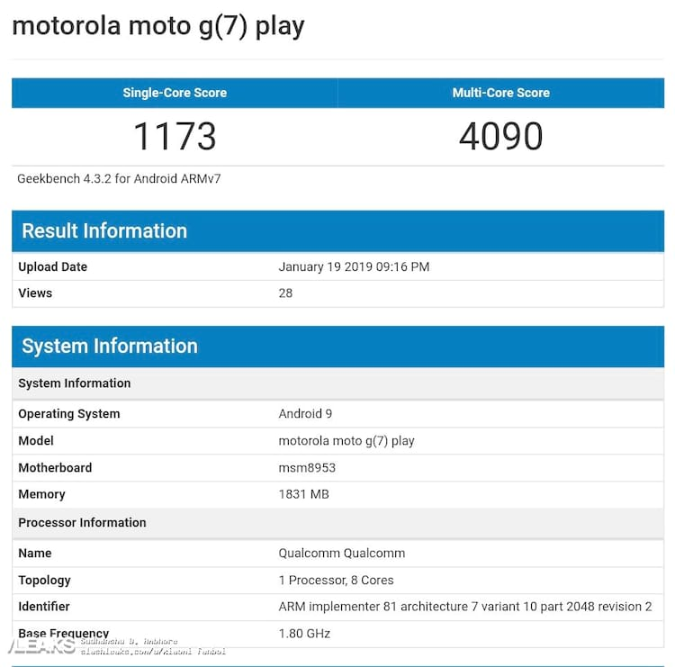 Moto G7 Play com Snapdragon 625
