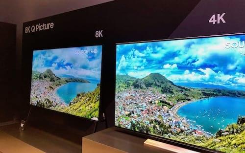 Qual a diferença entre a resolução 8K e a 4K?