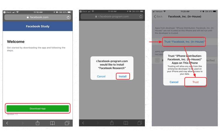 Imgem: TechCrunch. O aplicativo de pesquisa do Facebook exige que os usuários confiem nele com acesso extensivo a seus dados.