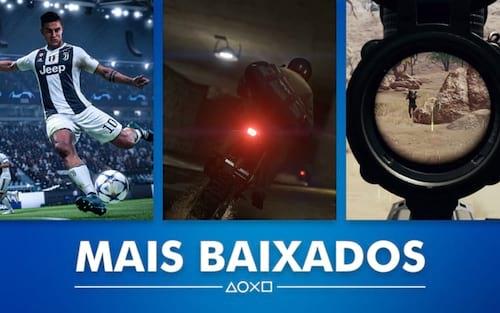 Games mais baixados da PlayStation Store em janeiro de 2019