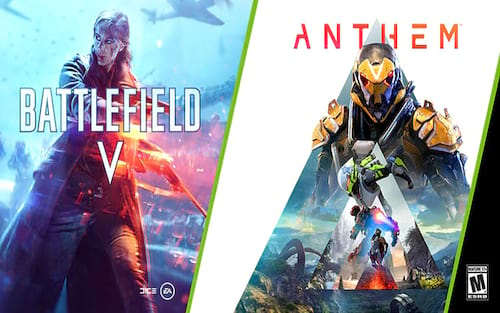 Ganhe Battlefield V ou Anthem na compra de uma Nvidia RTX