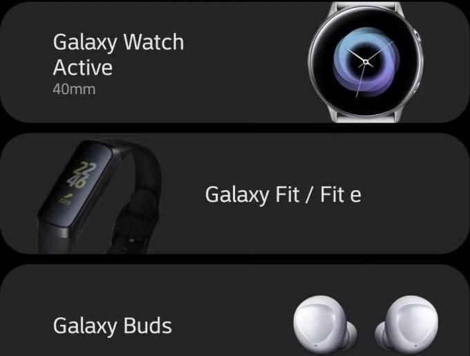 Samsung deixa vazar nova linha de wearables através de seu aplicativo.