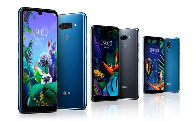 Smartphones LG Q60, K50 e K40