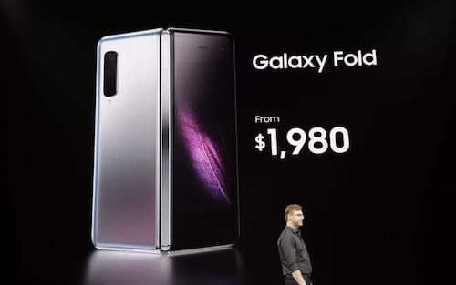 Galaxy Fold é o telefone dobrável da Samsung por $1980