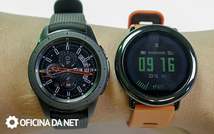Galaxy Watch BT comparado com Amazfit Pace