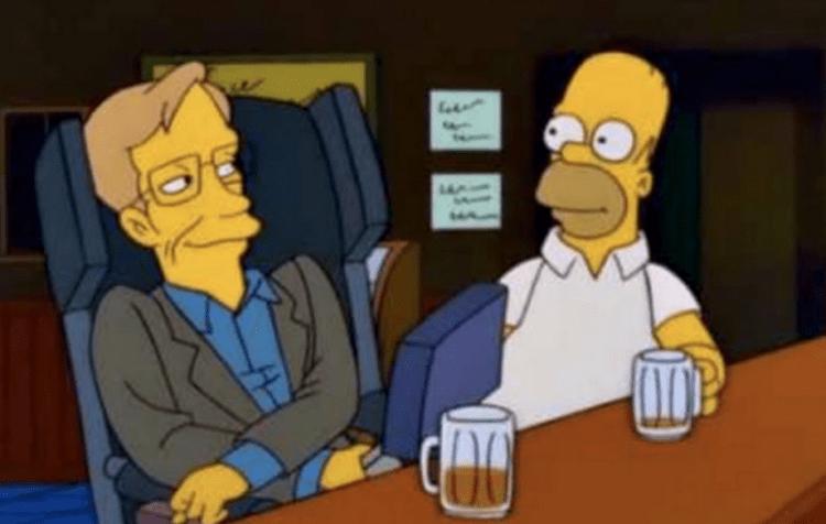 Stephen Hawking nos Simpsons