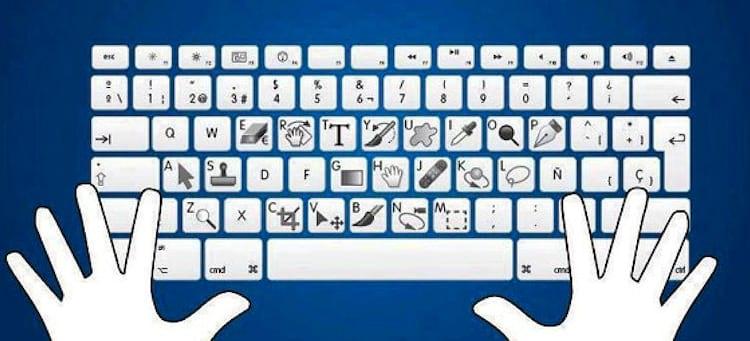 Atalhos do teclado para Photoshop