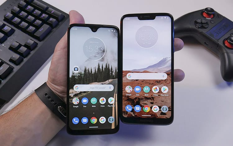Moto G7 Plus e Moto G7 Power telas