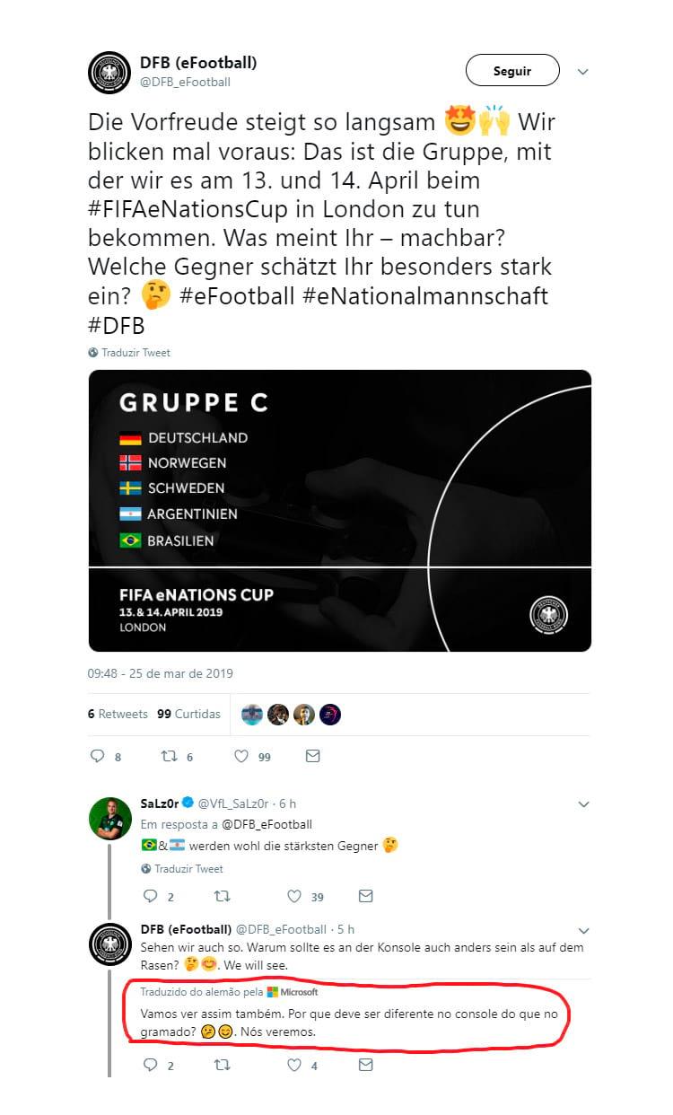Chacota no Fifa: Alemanha x Brasil