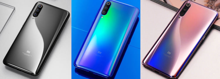 Cores do Xiaomi Mi 9