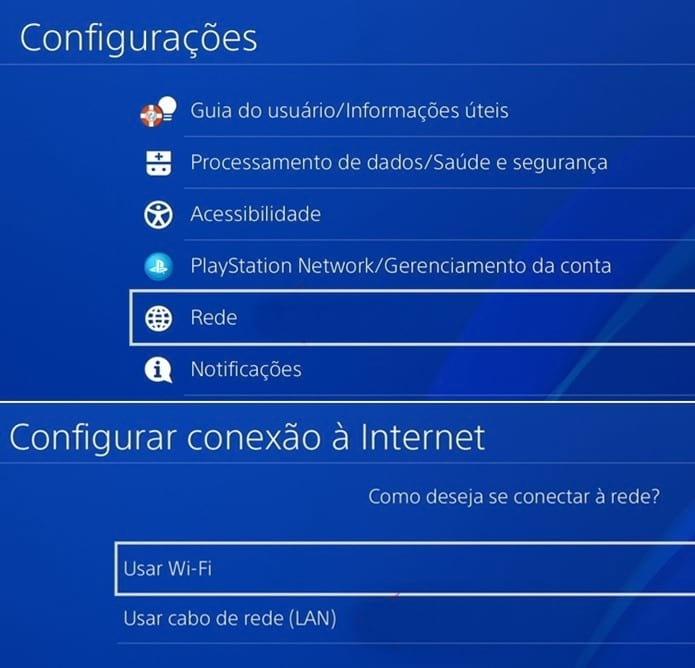 Conectando através de Wi-Fi