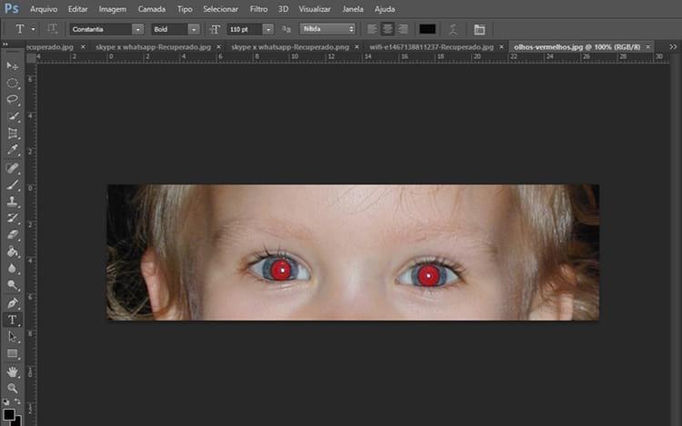 Como corrigir olhos vermelhos no Photoshop?