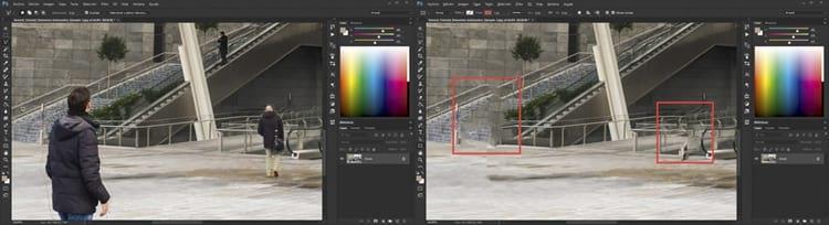 Antes e depois - Photoshop