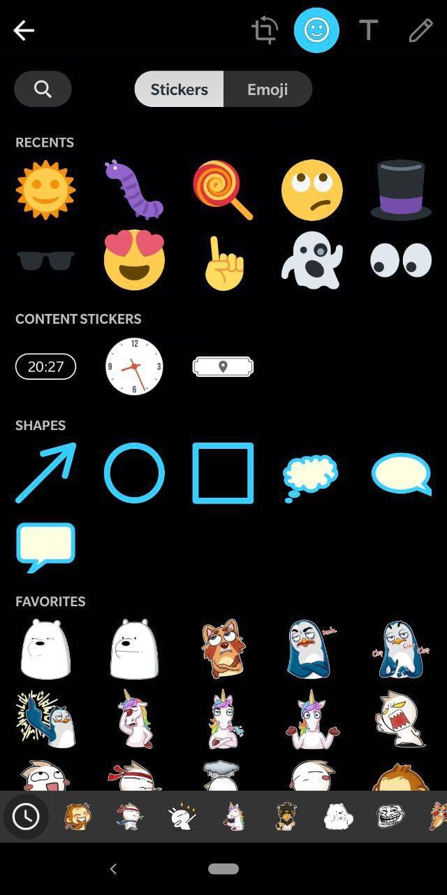 Stickers e Emojis