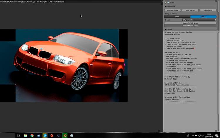 Blender BMW Benchmark