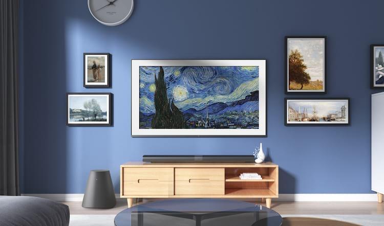 A Mi Mural TV possui o modo quadro para incorporar a decoração da casa. Fonte: HTC Mania