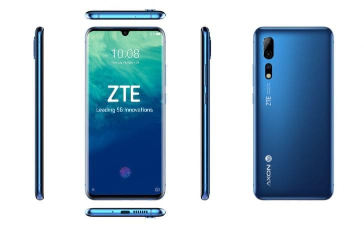 Celular Axon 10 Pro 5G foi divulgado apenas na cor azul