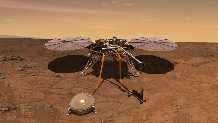 Sonda InSight da NASA em Marte