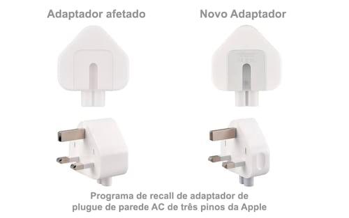 Apple anuncia recall para alguns adaptadores de tomada